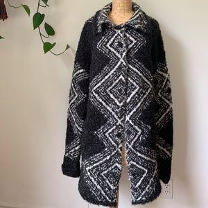 Artisan NY Wool Blend Oversized Tribal Sweater